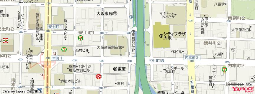 大阪産業創造館 (さんそうかん) 地図