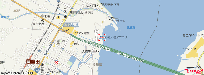 琵琶湖大橋 地図