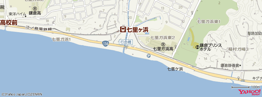 七里ガ浜 地図