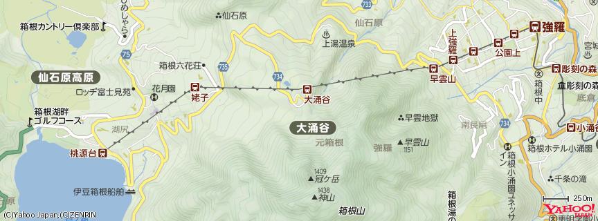 大涌谷(owakudani) 地図