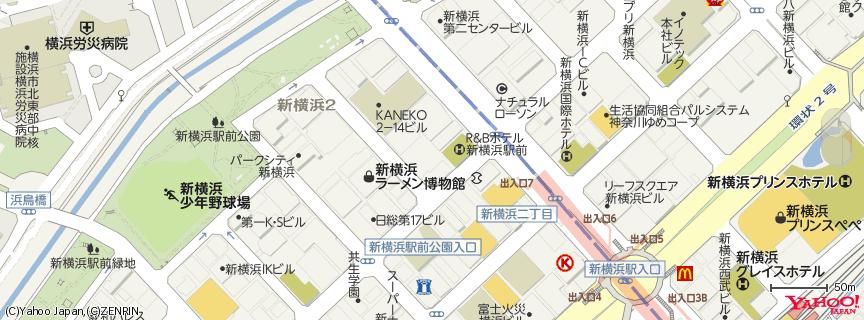 新横浜ラーメン博物館 地図