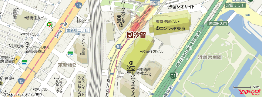 Hotel Villa Fontaine Shiodome 地図