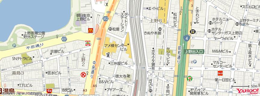 アメヤ横丁 地図