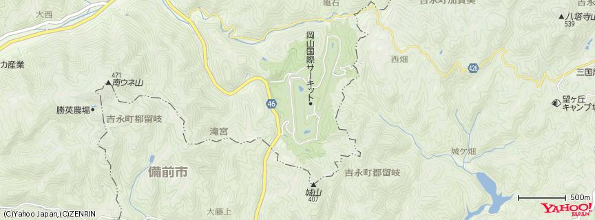 岡山国際サーキット 地図