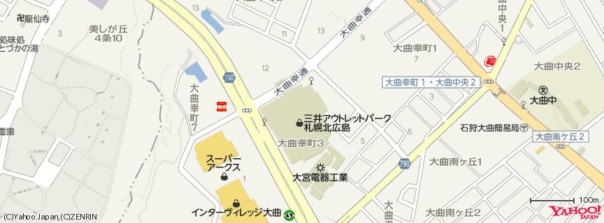 三井アウトレットパーク 札幌北広島 地図