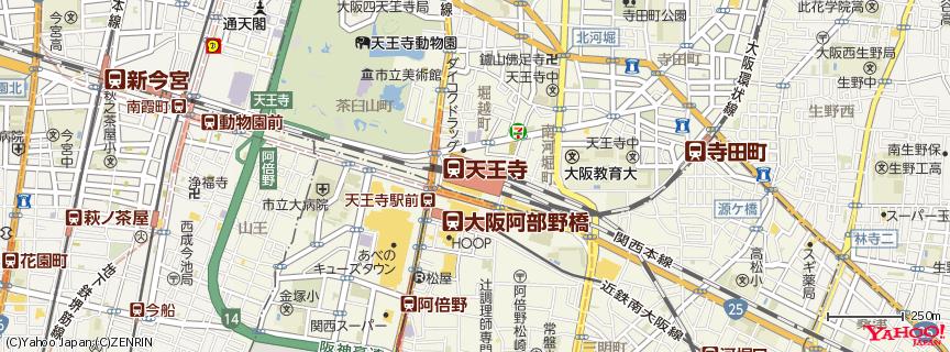 天王寺駅 地図
