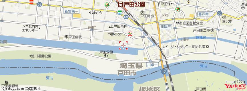 戸田オリンピックボートコース 地図
