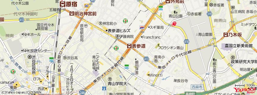 表参道駅 地図