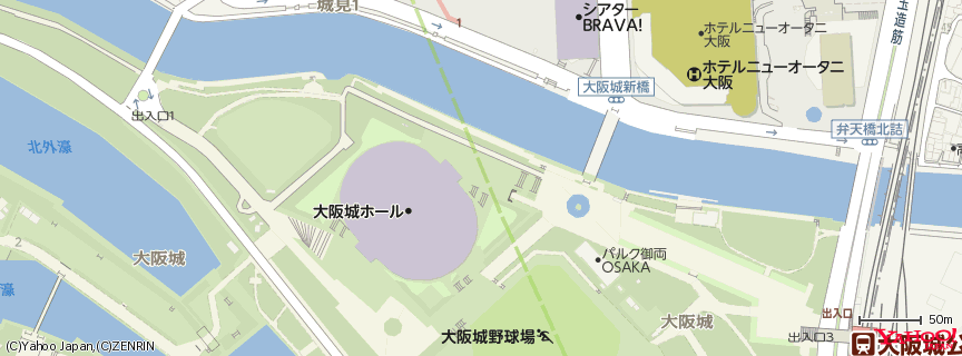 大阪城ホール 地図