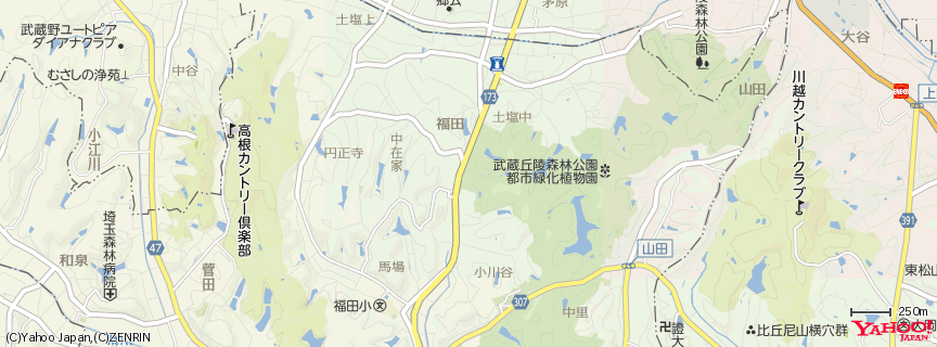 国営武蔵丘陵森林公園 地図