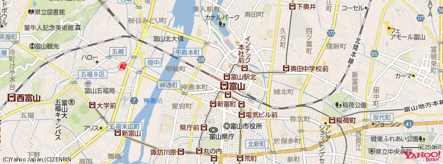 富山駅 地図