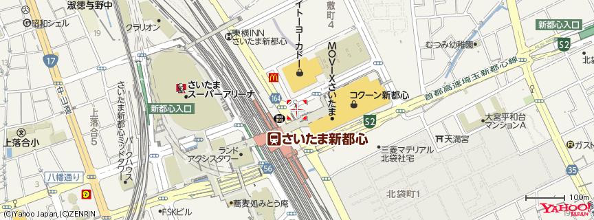 コクーン新都心 地図