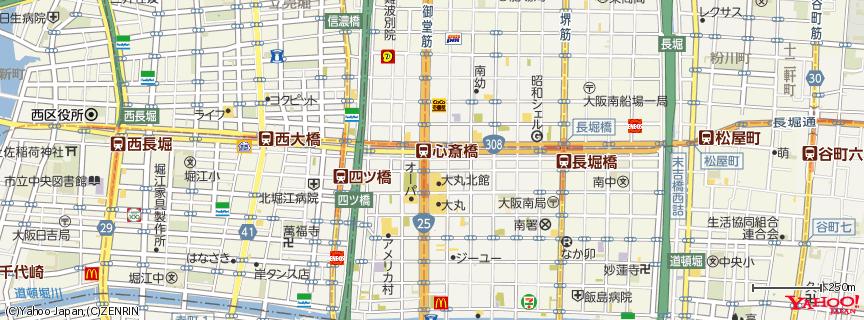心斎橋駅 地図