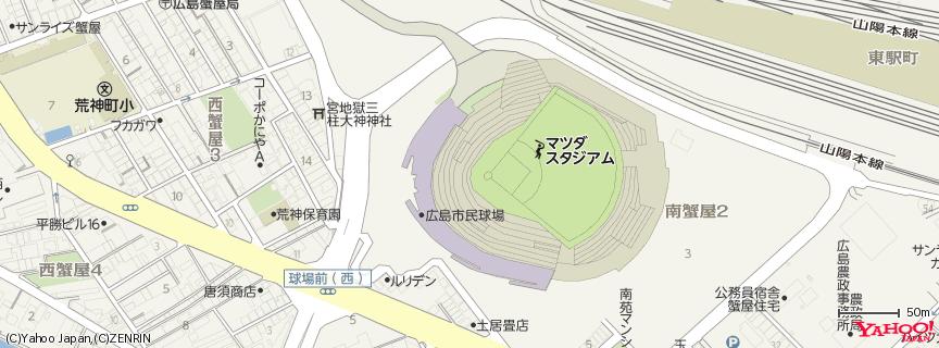 MAZDA Zoom-Zoom スタジアム広島 地図