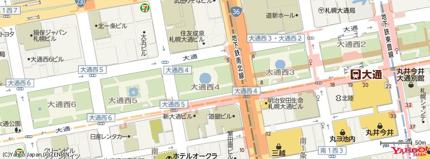 札幌大通公園 地図