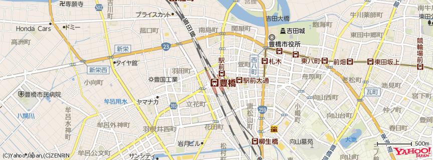 豊橋駅 地図