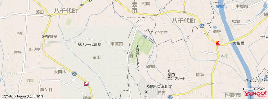 筑波サーキット 地図