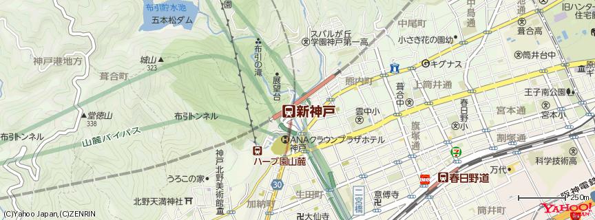 新神戸駅 地図