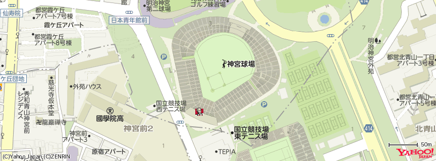 明治神宮野球場 地図