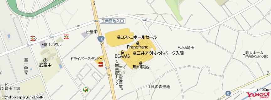 三井アウトレットパーク 入間 地図