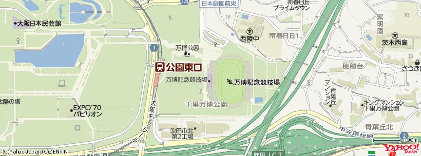 万博記念競技場 地図