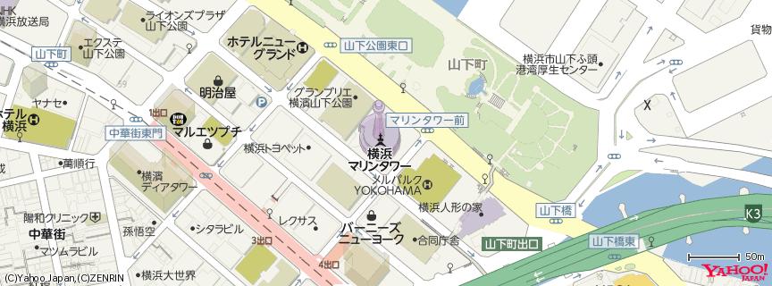 横浜マリンタワー≪公式≫ 地図