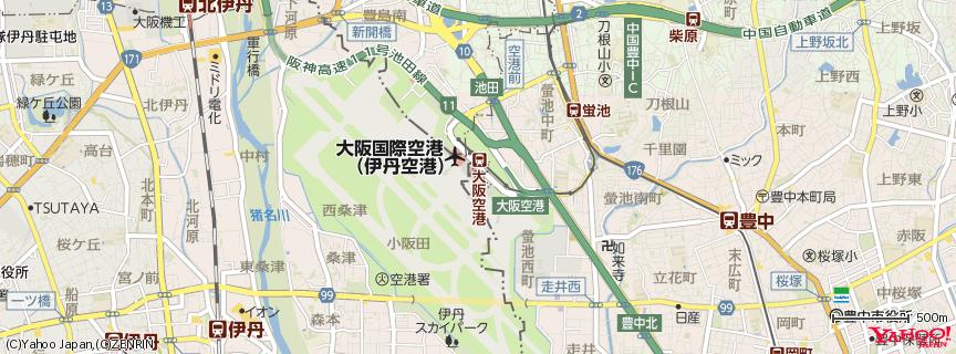 ANA 大阪(伊丹)空港 - Osaka(Itami) Airport 地図