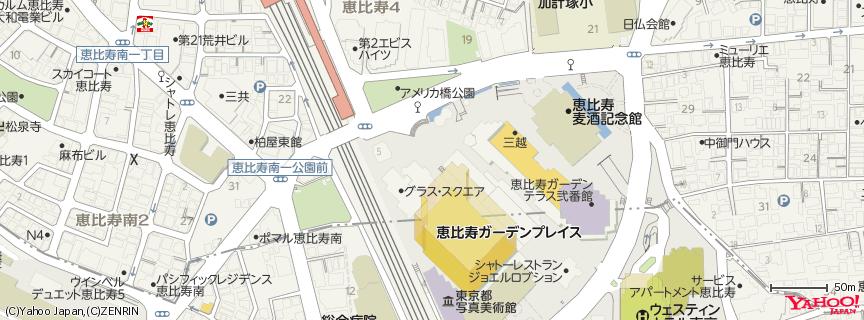 恵比寿ガーデンプレイス 地図