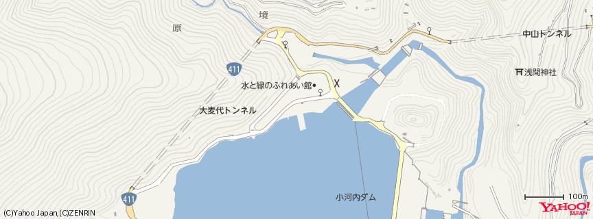奥多摩湖 小河内ダム 地図