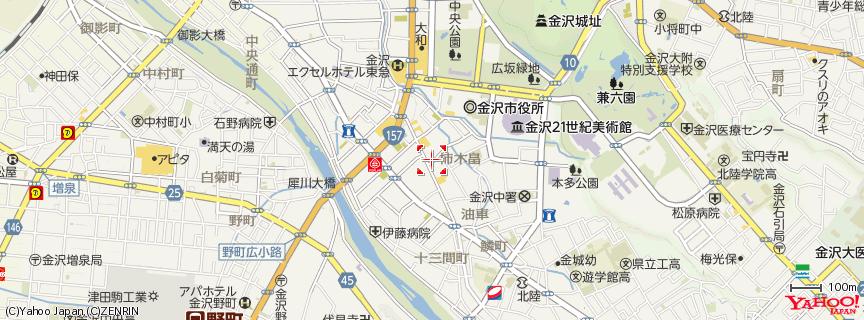 フルオブビーンズ(金沢市/観光/カフェ) 地図 フルオブビーンズ(金沢市/観光/カフェ) 金沢市