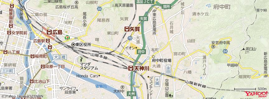 ユニクロ イオンモール広島府中店 地図