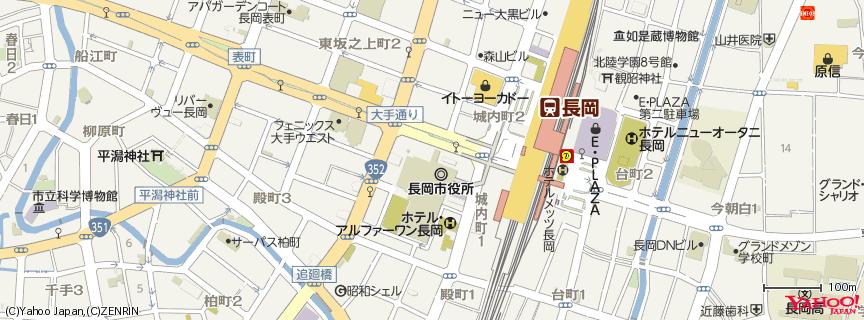 シティホールプラザ「アオーレ長岡」 地図