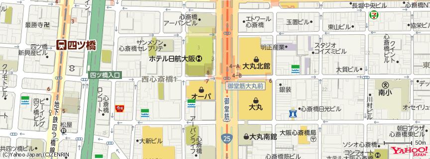 心斎橋オーパ official 地図