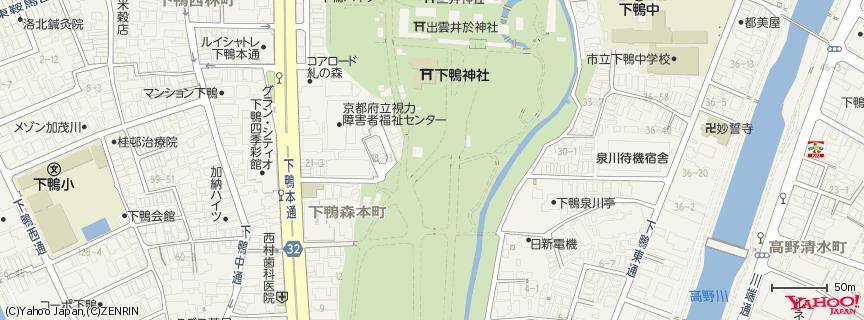 下鴨神社(賀茂御祖神社) 地図